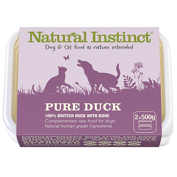 Natural Instinct Pure Duck 2 x 500g Tub