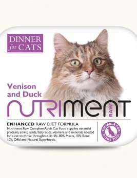 Nutriment Dinner for Cats Venison and Duck Tub