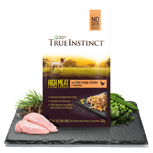 True Instinct High Meat Fillets with Free Range Chicken for Small Dogs 150g Pouch