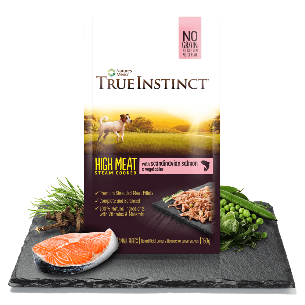 True Instinct High Meat Chicken Fillet with Scandinavian Salmon for Small Breed Dogs 150g Pouch