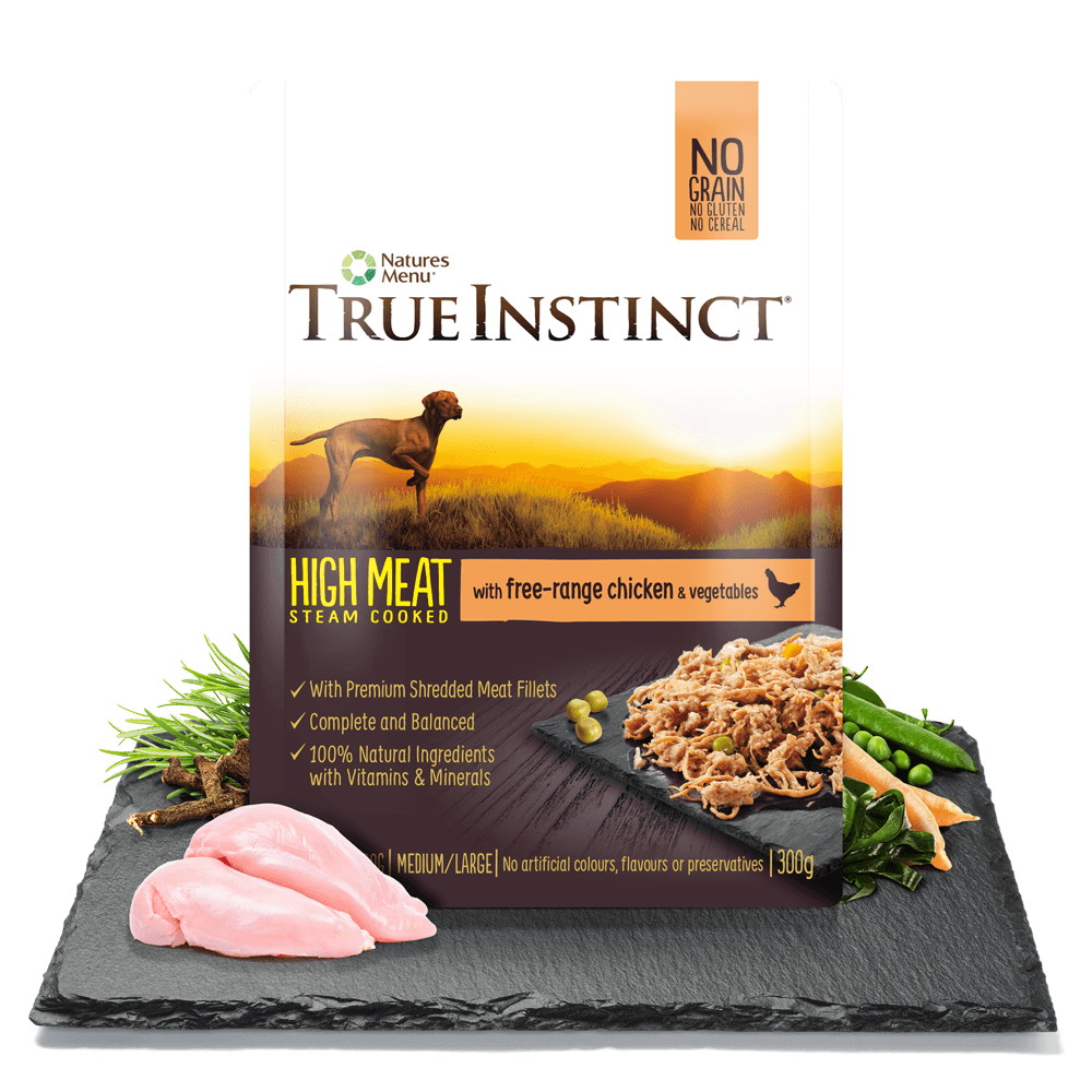 True Instinct High Meat Fillet with Free Range Chicken for Adult Dogs 300g Pouch