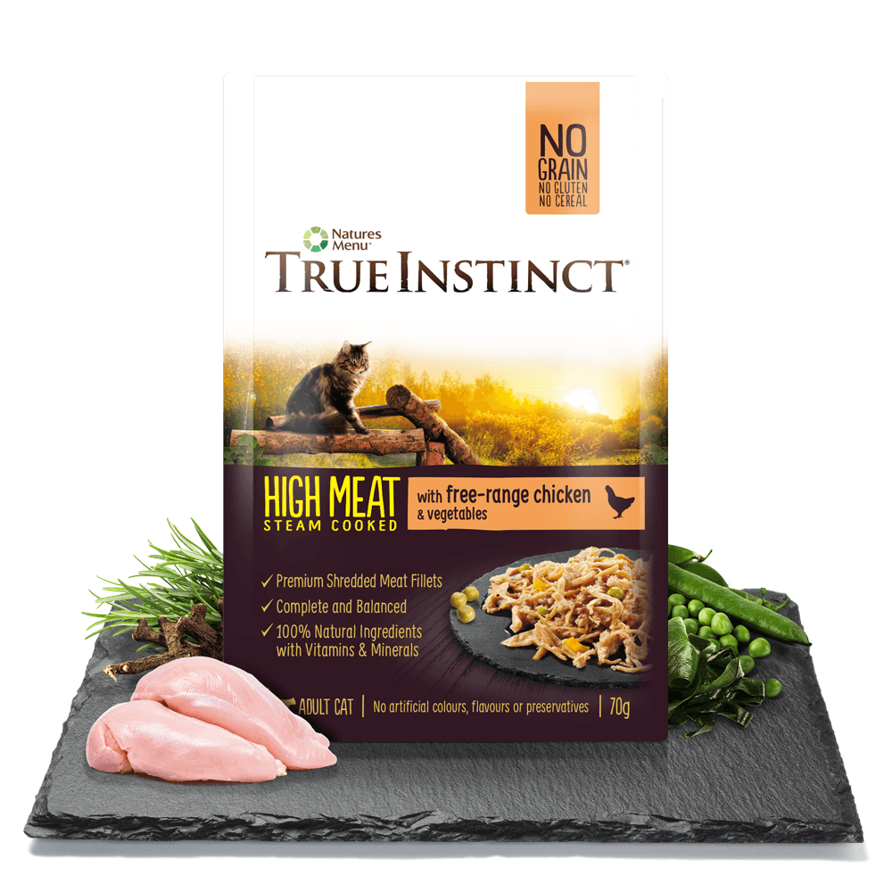 True Instinct High Meat Fillet with Free Range Chicken for Adult Cats 70g Pouch