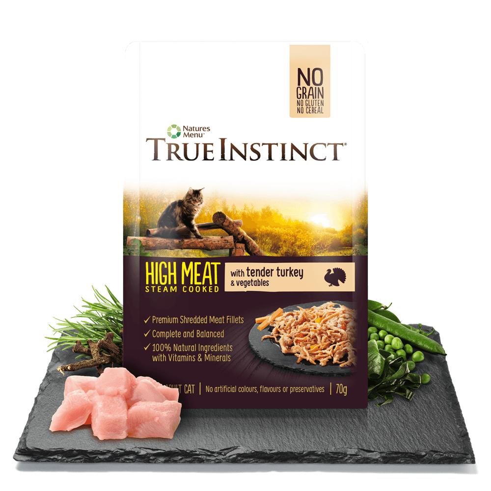 True Instinct High Meat Chicken Fillet with Tender Turkey for Adult Cats 70g Pouch