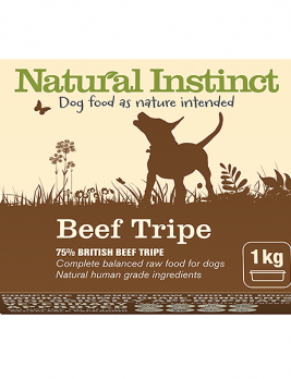 Natural Instinct Dog Beef Tripe 1kg Tub