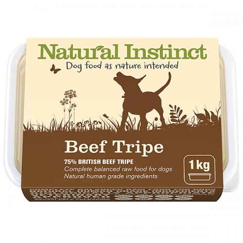 Natural Instinct Dog Beef Tripe 1kg Tub