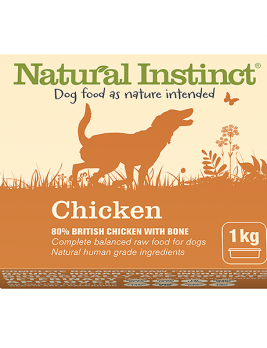 Natural Instinct Dog Chicken 1kg Tub