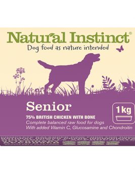 Natural Instinct Senior Dog Food 1kg Tub
