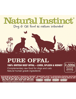 Natural Instinct Pure Offal 2 x 500g Tub