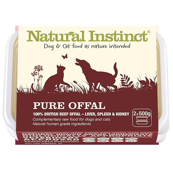Natural Instinct Pure Offal 2 x 500g Tub