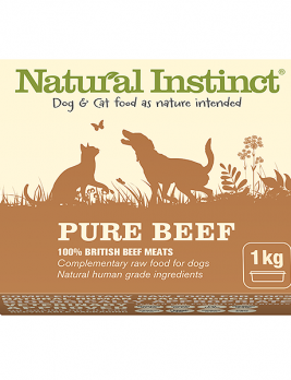 Natural Instinct Pure Beef 1kg Tub