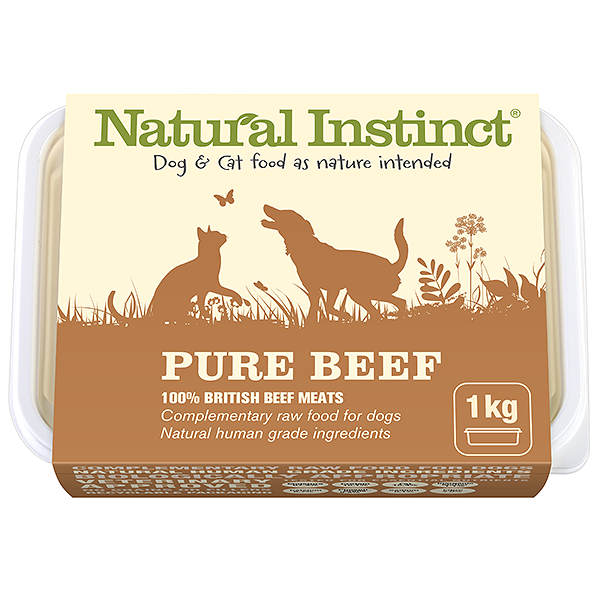 Natural Instinct Pure Beef 1kg Tub