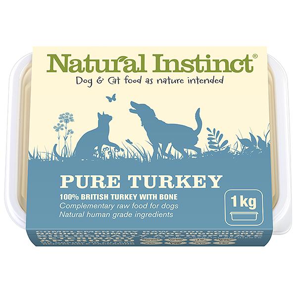 Natural Instinct Pure Turkey 1kg Tub