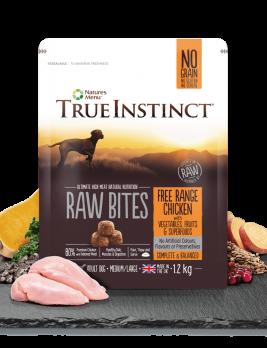 True Instinct Raw Bites Chicken 1.2kg Bag