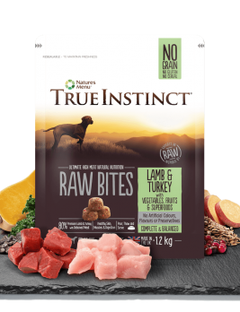 True Instinct Raw Bites Lamb and Turkey 1.5kg Bag