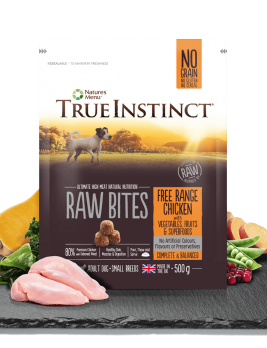 True Instinct Raw Bites Small Breed Chicken 500g Bag