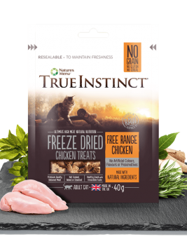 True Instinct Freeze Dried Cat Treats Chicken 40g Bag