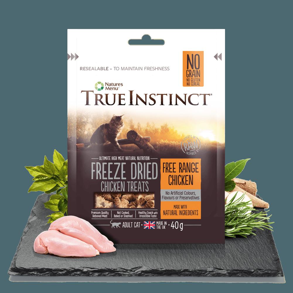 True Instinct Freeze Dried Cat Treats Chicken 40g Bag