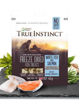 True Instinct Cat Treats Whitefish and Salmon 40g Bag