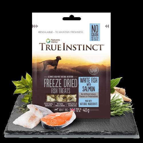 True Istinct Freeze Dried Treats Salmon 40g Bag
