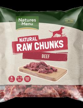 Natures Menu Raw Beef Chunks 1kg Baf