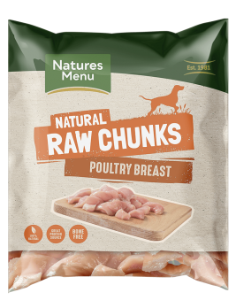 Natures Menu Raw Poultry Breast Meat Chunks Bag