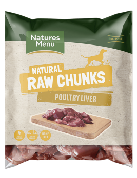 Natures Menu Raw Poultry Liver Chunks Bag