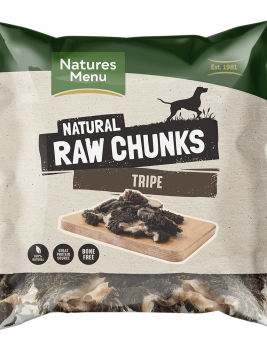 Natures Menu Raw Tripe Chunks Bag
