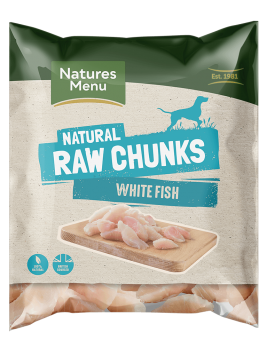 Natures Menu Raw White Fish Fillet 1kg Bag