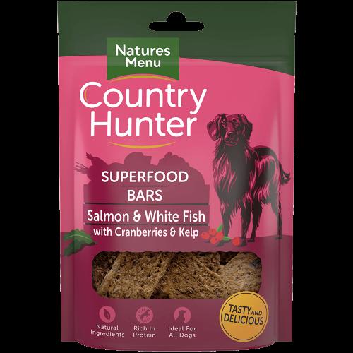 Country Hunter Superfood Bars Salmon and White Fish 100g Bag