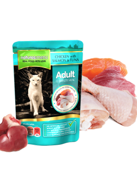 Natures Menu Cat Food Chicken with Salmon & Tuna 100g Pouch