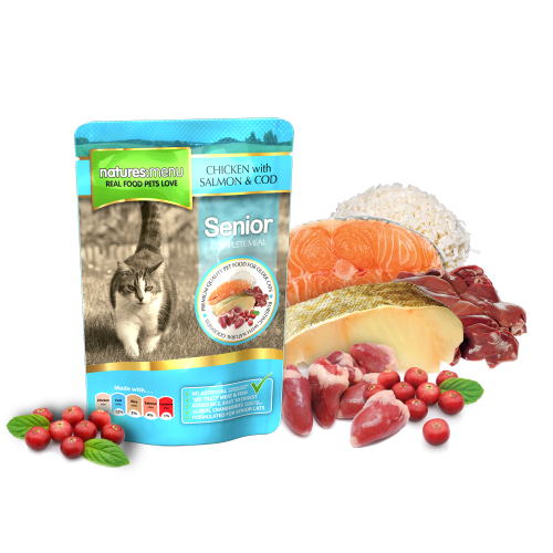 Natures Menu Cat Food Senior 100g Pouch