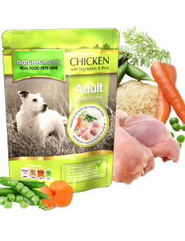 Natures Menu Dog Food Pouch Chicken with Vegetables & Rice 300g Pouch