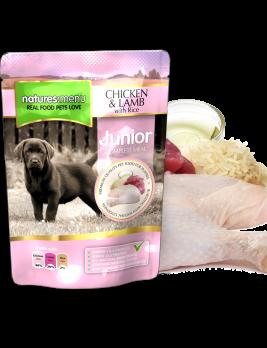 Natures Menu Junior Dog Food Pouch Chicken & Lamb 300g Pouch