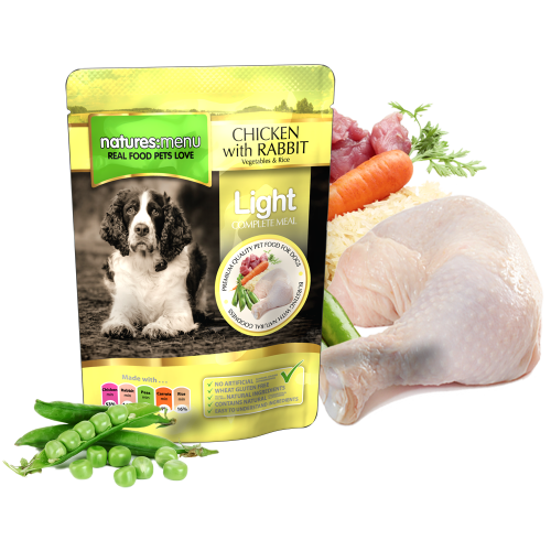Natures Menu Dog Food Pouch Light Chicken with Rabbit 300g Pouch