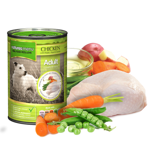 Natures Menu Dog Food Chicken 400g Can