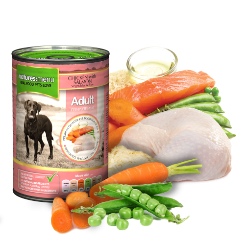Natures Menu Dog Food Chicken with Salmon 400g Can