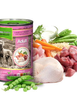 Natures Menu Dog Food Lamb with Chicken 400g Can