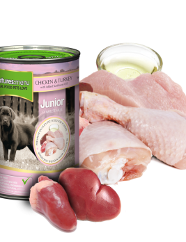 Natures Menu Junior Dog Food Chicken & Turkey 400g Can