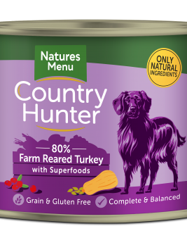 Country Hunter Dog Food Farm Reared Turkey 600g Can Front