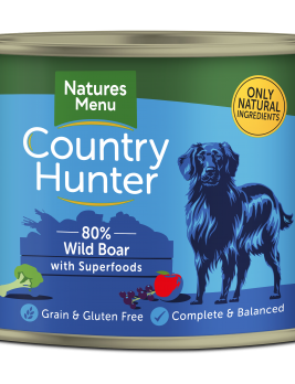 Country Hunter Dog Food Wild Boar 600g Can Front