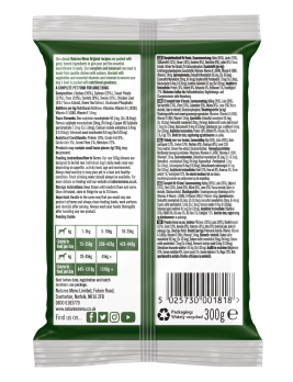 Natures Menu Original Raw Meals Chicken & Salmon 300g Back of Pack