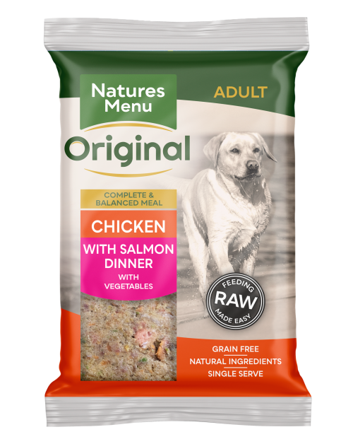 Natures Menu Original Raw Meals Chicken & Salmon 300g Front of Pack