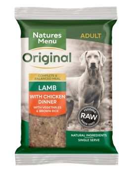 Natures Menu Original Raw Meals Lamb 300g Front of Pack