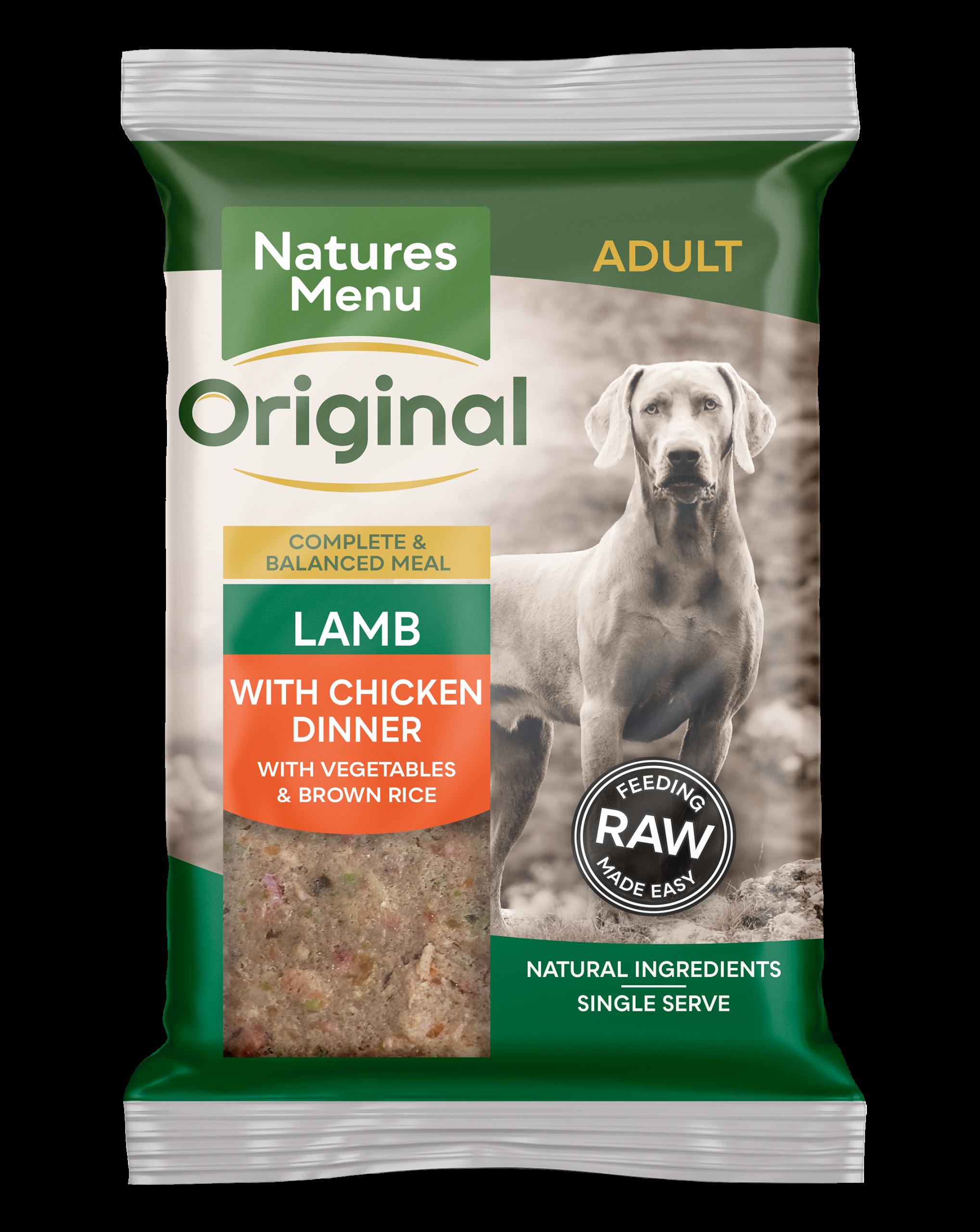 Natures Menu Original Raw Meals Lamb 300g Front of Pack