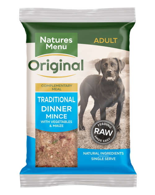 Natures Menu Traditional Dinner for Working Dogs 300g Front of Pack