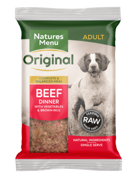 Natures Menu Original Raw Meals Beef 300g Front of Pack