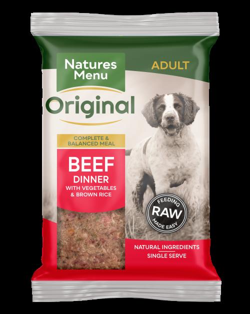 Natures Menu Original Raw Meals Beef 300g Front of Pack