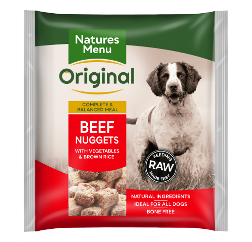Natures Menu Beef Nuggets Front of Pack