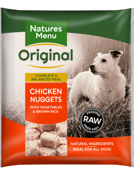Natures Menu Chicken Nuggets Front of Pack