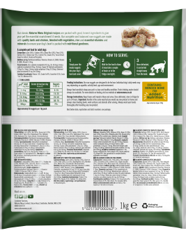 Natures Menu Lamb Nuggets Back of Pack